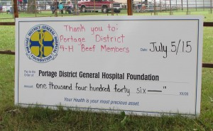 Portage District 4h Beef Members cheque